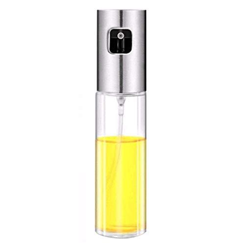 litulituhallo Pulverizador de aceite de oliva portátil 3 4 oz 100 ml de vidrio recargable vinagre plata
