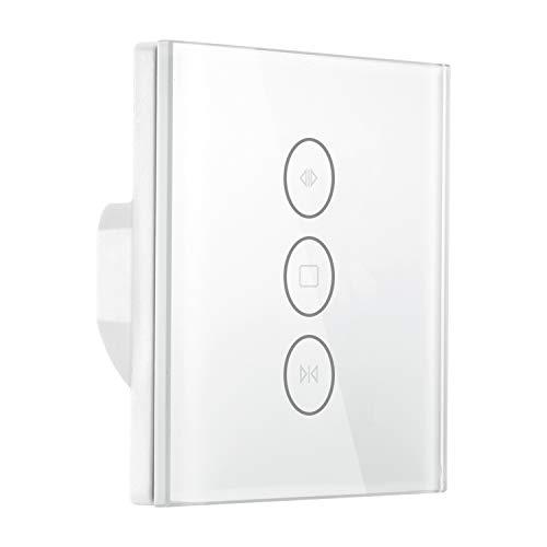 Konesky Smart Interruptor de cortina Inalámbrico Wifi Persianas eléctricas Interruptor Temporizador Interruptor de pared Control táctil con Alexa Google Inicio (Type 2)