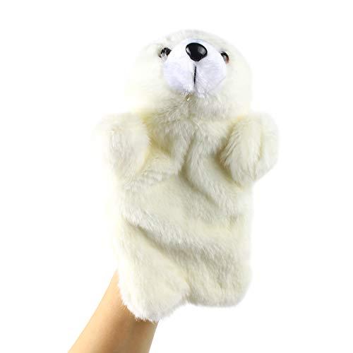 Andux Zone Schöne Plüsch Handpuppe Stofftier Spielzeug (SO-04 Eisbär)