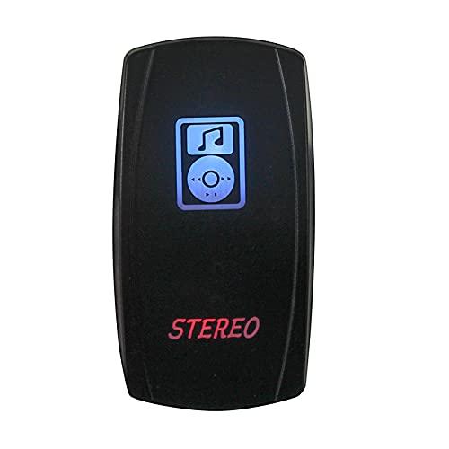 LiCHANGZHU LCBIAO 12V 24V Dual LED Rocker Interruptor de Color Azul Rojo Botón de Interruptor de Rocker para Barco de Coche Caravan Marine 4x4