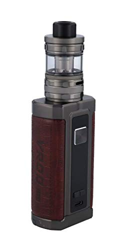aspire, Vrod 200 E Zigarette mit Guroo Verdampfer max. 200W 4ml 5ml Tankvolumen, Reddish Brown