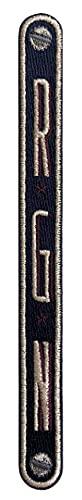 SIGN of MINE Patches für Koffer, Trolleys, oder Reisetaschen, Bestickt, Selbstklebend, Beste Manufakturarbeit, Personalisierbar, Koffer Patch Initialen Vertikal 3L, Blau, 18 x 1,7 cm