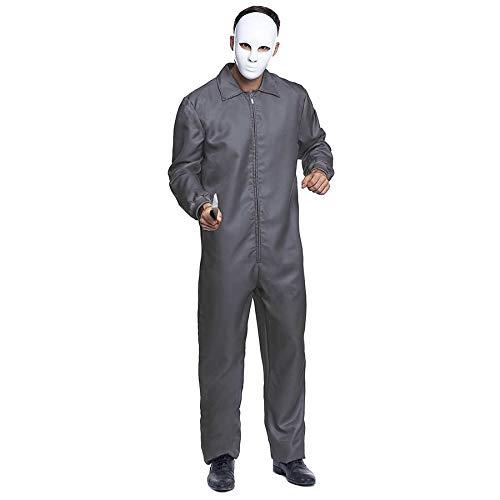Mono Trabajo de Disfraz con Cremallera Gris Adulto (S) (+Tallas) Halloween y Carnaval