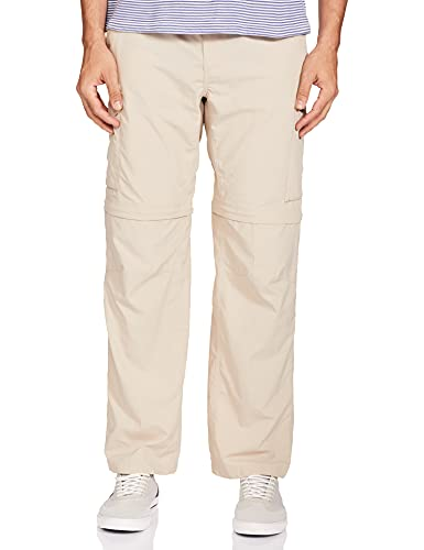 Columbia Men's Silver Ridge Convertible Pant, Breathable, UPF 50 Sun Protection, Fossil, 30x34