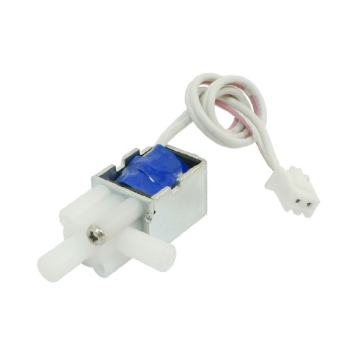 Sourcingmap 1mm 80g 2mm 20g 12V 1,6W Open Frame DC Wasser Magnetventil w Kabel de