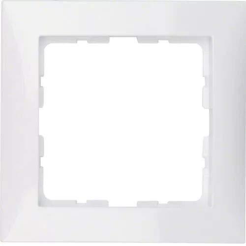Hager Berker 10118989 Rahmen 1fach S.1 polarweiß glänzend