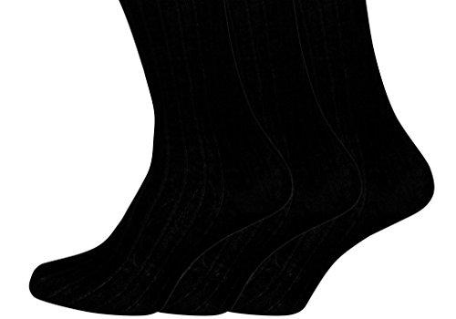 HDUK Mens Socks Herren Socken 45-49 Gr. 45-49, schwarz