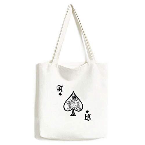 Masterpiece Romance Three Kingdoms China bolsa de mão artesanato pôquer pá lona sacola de compras