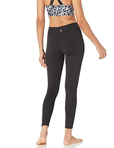 Amazon Brand - Core 10 Women's 'Build Your Own' Yoga Pant - Medium Waist Full-Length Legging, L, Black