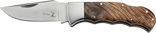 Elk Ridge Couteau de Poche Hunter Manche en Bois de Racine, Longueur cm : 10,16 fermé, elkr de 1086