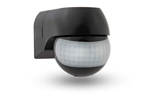 HUBER Motion 3LV Compact Infrarot Bewegungsmelder 180° IP44 I 12-24V AC DC, Potential freier Kontakt, Bewegungsmelder LED geeignet, horizontal/vertikal verstellbar, anthrazit