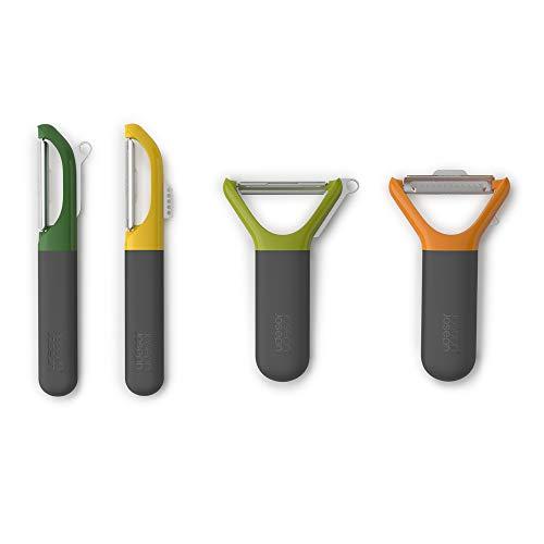 Joseph Joseph Multi-Peel Y-shaped Peeler Easy Grip Handles Stainless Steel Blade for Kitchen Vegetable Fruit, Light Green