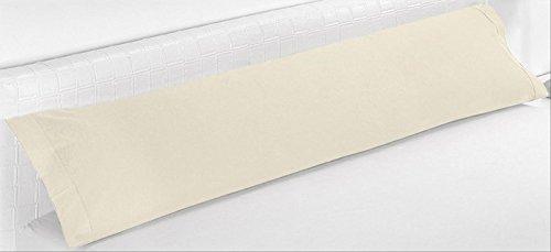 ForenTex - Funda de Almohada, (PS-1532), Cama 90 cm, 100 x 45 cm, Marfil, 100% Microfibra, máxima transpiración y frescura.