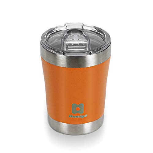 HUMIGO Tumbler 10oz Travel Mug Stainless Steel Tumbler for Wine/Sparkling Water Coffee Travel Mug for Office/Camping/Outdoor BPA Free Coffee Tumbler 1098300OR