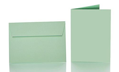 Paper24 farbige Briefumschläge mit Faltkarte B6: 12 x 17 cm - 240 g/m² - 25 Stück (hellgrün)