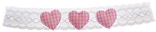 La Bortini Baby & Kinder Haarband ab 0M Stirnband Kopfband Band Taufe Weiß Kopfschmuck (44-46cm, Blume Rosa)
