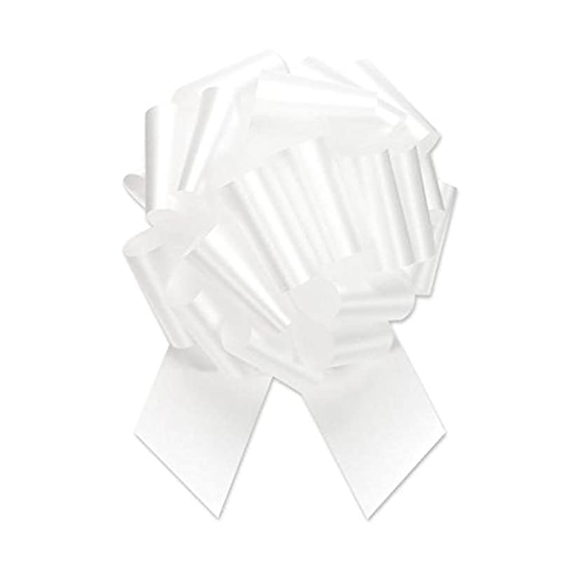 Berwick Offray Ribbon Pull Bow, 8'' Diameter with 20 Loops, White