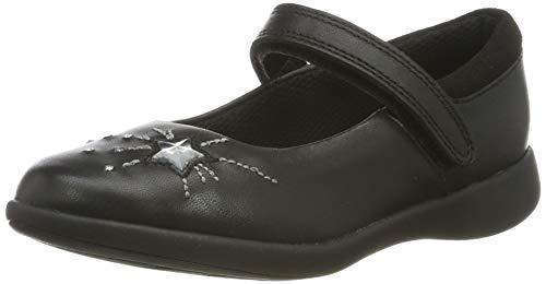 Clarks Mädchen Etch Spark K Geschlossene Ballerinas Schwarz (Black Leather), 28 EU