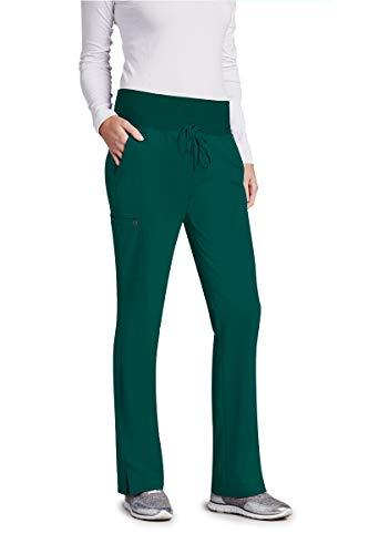 BARCO One 5206 Women's 5 Pocket Knit Waist Cargo Scrub Pant Hunter Green XSP