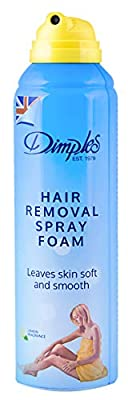 Dimples Hair Removal Spray Foam Lemon Fragrance, 200 ml from Linco Care Ltd.