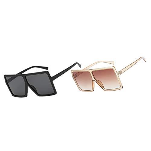joyMerit 2x Gafas de Sol Unisex Gafas Gafas Deportivas de Viaje Gafas UV 400 de Gran Tamaño