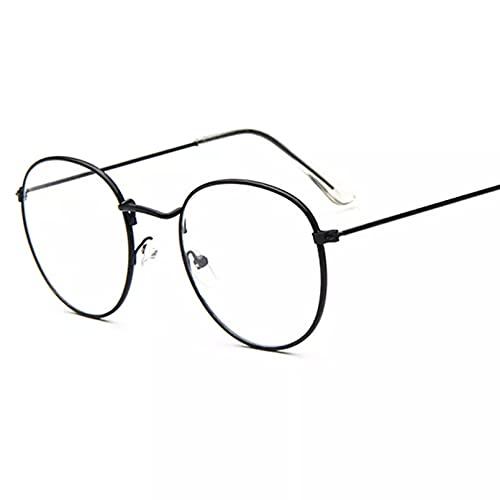 YTYASO Moda Gafas Redondas Marcos Mujeres Hombres anteojos anteojos para Mujeres Claro