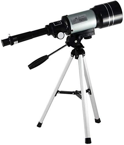 PJPPJH Telescopio de astronomía, telescopio Refractor de 300/70 mm 150X Zoom HD para niños y Principiantes de astronomía, Kit de telescopio de Viaje con súper Ligero