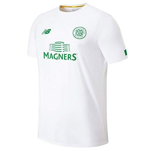New Balance Men's Celtic Football Pre-Game Jersey, White, XL