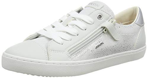 Geox J Kilwi Girl B, Zapatillas Niñas, Blanco (White/Silver C0007), 30 EU
