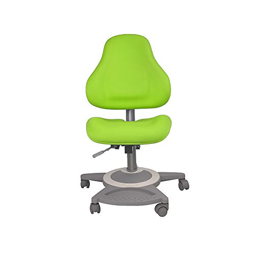 FD FUN DESK Bravo Green in hoogte verstelbare bureaustoel, stoel voor kinderen, groen, 650x480x800-970 mm