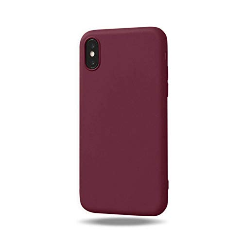 del Color del Caramelo para el Equipaje Casos de teléfono para iPhone 6S 6 SX Soft silicón Lindo para el iPhone 8 7 Plus XS MAX XR Caso de TPU Nuevo Caso Fundas, Brown, para iPhone 7 Plus