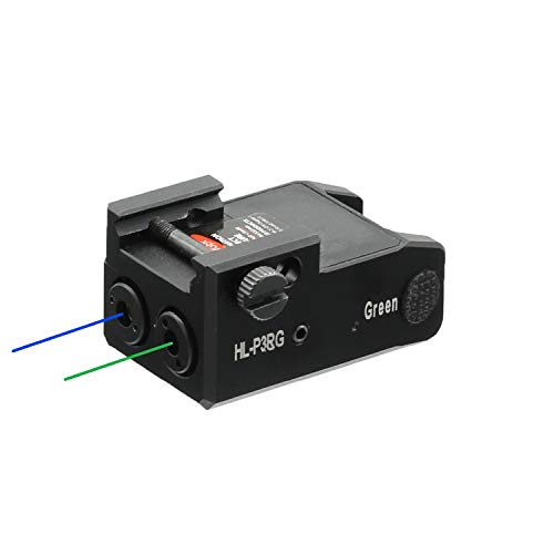 HiLight P3BG Low Profile Blue Laser and Green Laser Duo Laser Sights Combo