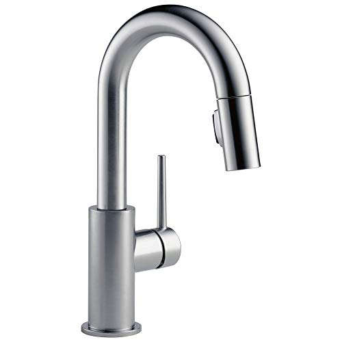 Delta Faucet Trinsic Single-Handle Bar-Prep Kitchen Sink Faucet with Pull Down Sprayer and Magnetic...