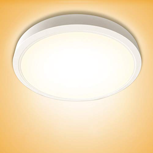 20W LED Deckenlampe, bapro Badlampe, 890LM LED Deckenleuchte 3000K Warmweiß LED Deckenleuchten Bürodeckenleuchten Badezimmer Lampen für Badezimmer Küche Wohnzimmer Balkon Flur Schlafzimmer Decke Büro