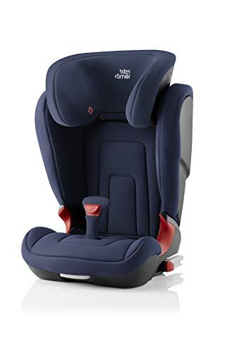 BRITAX RÖMER Siège Auto KIDFIX 2 R, Confortable avec Protections Latérales, enfant de 15 à 36 kg (Groupe 2/3) de 3.5 ans à 12 ans, Moonlight Bleu