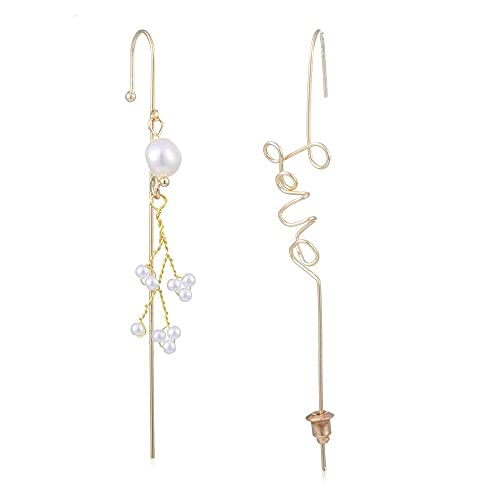 Nueva joyería de la boda Punk geométrica relámpago cruz escalador oído abrigo orugas gancho pendientes zirconia perla brazalete oído Stud