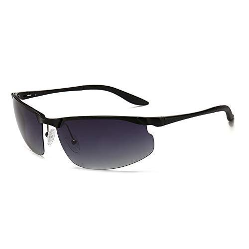 Sebasty Gafas de sol polarizadas UV400 sin marco de aluminio de magnesio gafas de sol de moda para mujer