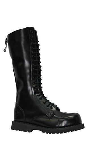 Grinders Schleifmaschinen Hawk König Schwarz 20 Loch Herren Damen Safety Cap Steel Toe Boots Leder (UK 4 / EU 37 Ladies)