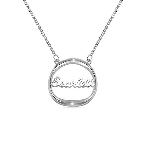Collar YCHZX de plata de ley 925, collar con nombre de corazón y sombra de personalidad, colgante para mujer, adecuado para regalo de madre y pareja