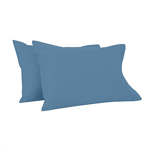 Toddler Pillowcases 12X16 Inches-Set of 2 PC Toddler Pillow Cover for Sleeping-Ultra Soft Safe (Sky Blue) Shiny Giza Egyptian My Dream Toddler Pillowcases for Boys Girls-Perfect for Travel