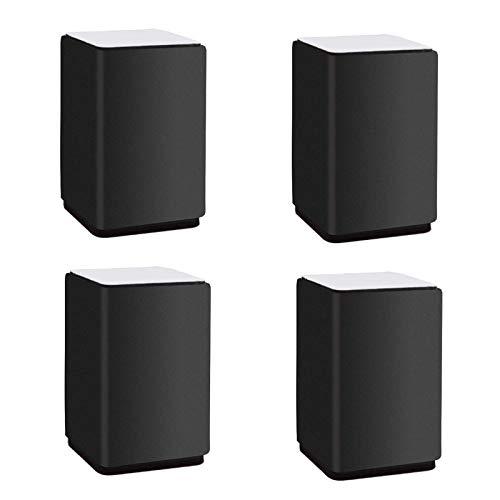 TCWDX 4 Almohadillas de realce para Muebles, Patas Redondas de Acero al Carbono para Muebles, Patas de Mesa, pie de sofá reemplazable, para Armario, sofá, Mesa, Soporte de TV, Protectores de Suelo