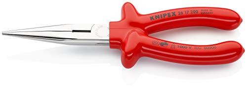 KNIPEX 26 17 200 Alicate de montaje (alicate de boca cigüeña) cromado aislados por inmersión en plástico reforzado, según norma VDE 200...