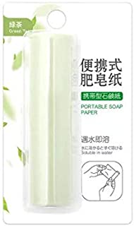 TT WARE Paper Soap Flakes Travel Camping Emergency Hand Wash Cleaning Toilet Soap Kits-Green