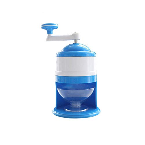 Review Hand Shaved Ice Machine, Household Small Manual Smoothie Machine, ABS Resin Hail Ice Machine, with Stainless Steel Sheet Ice Making