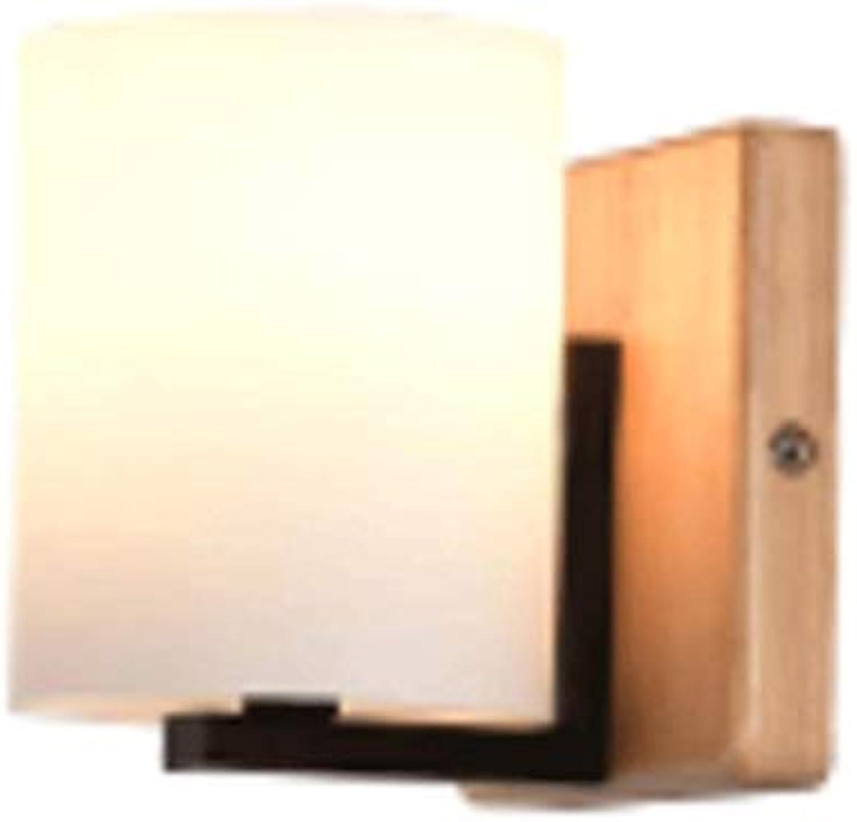Unbekannt Wall lamp solid Wood Log Aisle Bedroom Room Living Room small Bed lamp