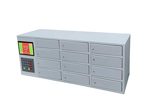 FixtureDisplays Cllphone Public Private Smartphone Storage Locker Charging Station Mini Cabinet keyless Entry centralized Computer Access for Schools Camps airports Government Agencies 15260