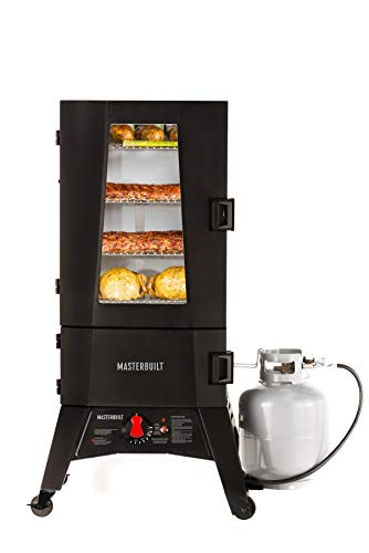 of camp chef coal stoves dec 2021 theres one clear winner Masterbuilt MB20051316 Propane Smoker with Thermostat Control, 40 inch, Black