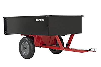 Craftsman CMXGZBF7124355 12-cu ft Steel Tow Dump Cart, Black