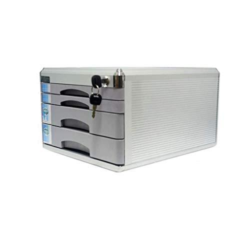 Preisvergleich Produktbild HongLianRiven Blanko-Etikett für Aktenschrank mit Aluminium-Legierung,  Schubladen-Organizer,  Schloss,  Tür-Design,  ausziehbare Schubladen,  12-30,  Aluminiumlegierung,  Metall,  grau,  4-Layers
