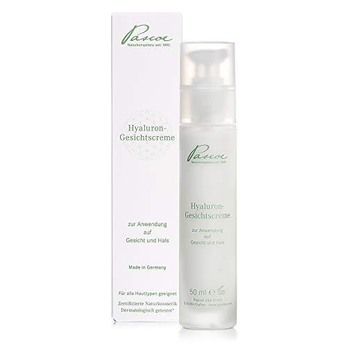 Pascoe ® Hyaluron Gesichtscreme: Naturkosmetik mit Feuchtigkeitsboostern – für alle Hauttypen - Made in Germany – 50 ml
